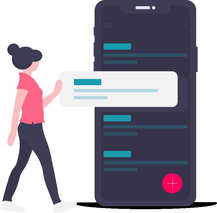 smartphone met lijst